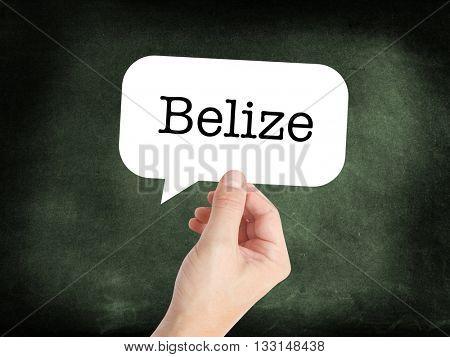 Belize written on a speechbubble