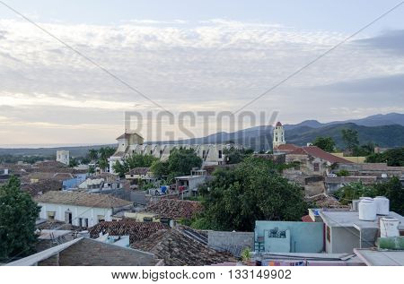 Panoramic view of Trinidad, Cuba. City of Trinidad is a UNESCO World Heritage Site