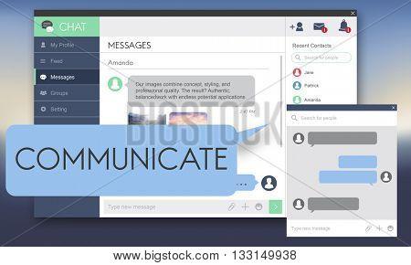 Communicate Communication Conversation Concept