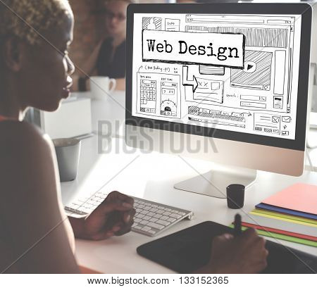 Design Website Create Template Layout Concept