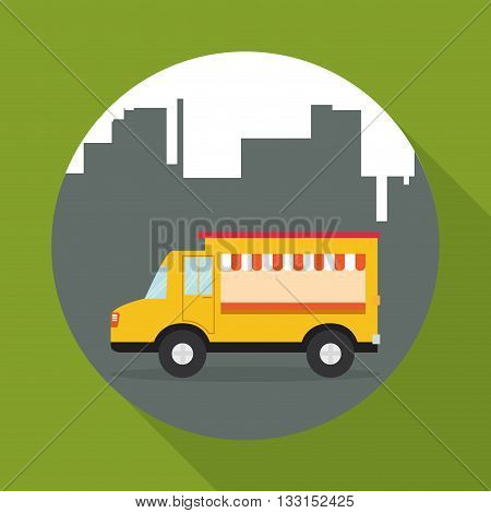Truck  concept with icon design, vector illustration 10 eps graphic.