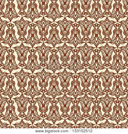 Henna mehndi tattoo doodle seamless pattern vector background