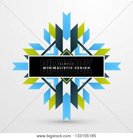 Geometric Vector Background. Triangles Pattern Background for Business Presentations, Application Cover and Web Site Design
