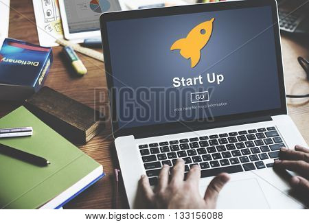 Start up Launch Homepage New Business Concept