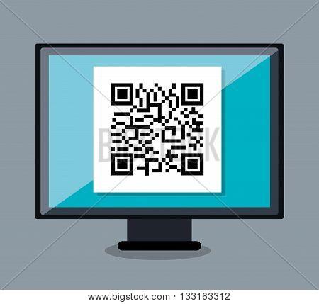 code qr design, vector illustration eps10 graphic
