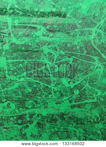 Green Textured Abstract Hand Painted Background