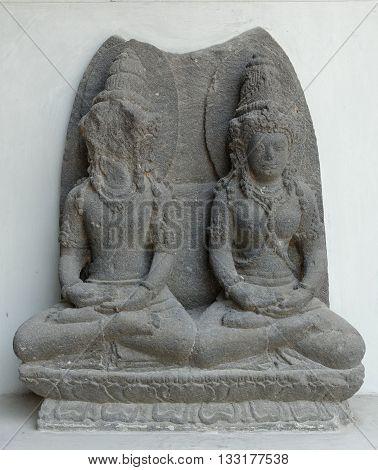 The Broken Statue of Vishnu and Lakshmi 8th - 9th century