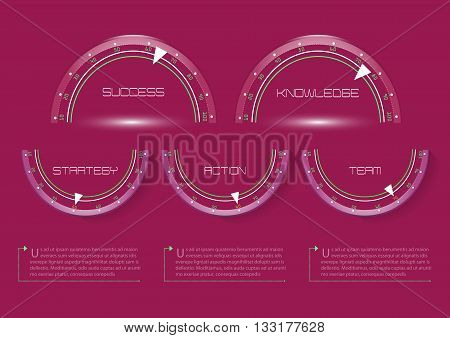 Info graphic, Design Element, Vector, Background,Success, Knowledge