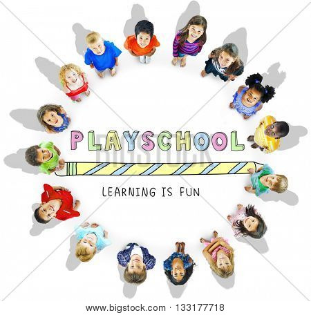 Education Learning Is Fun Children Graphic Concept
