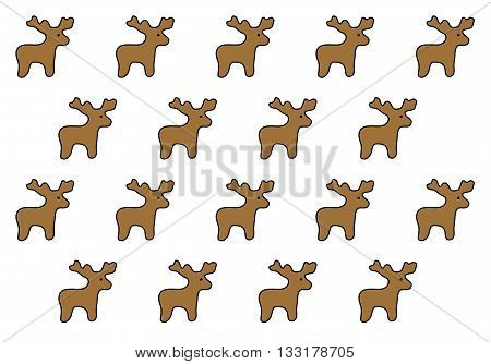 Figures deer on a white background for savers, gift wrapping and greeting cards