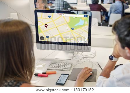 Navigation Location Geography Map Education Concept