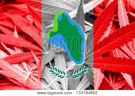 Flag Of Cumberland Head, New York, On Cannabis Background