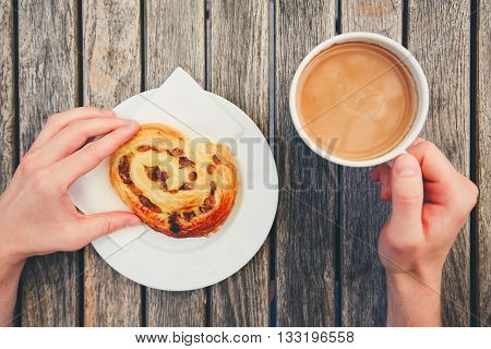 Morning Coffee With With Sweet Pastries