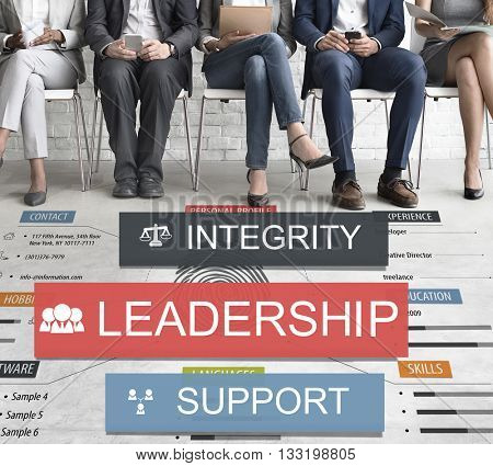 Leadership Lead Guiding Support Integrity Concept