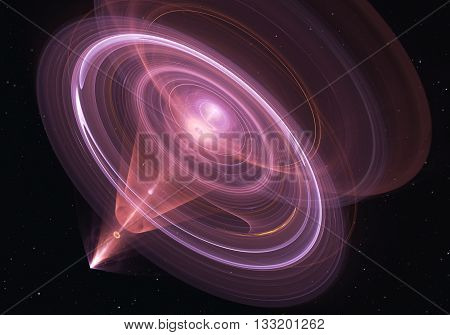 Wormhole funnel-shaped tunnel that can connect one universe with another. Illustration