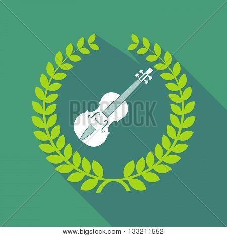 Long Shadow Laurel Wreath Icon With  A Violin