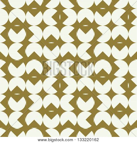 Graphic simple ornamental tile vector repeated pattern made using geometric figures. Vintage art abstract seamless texture can be used in textile design.