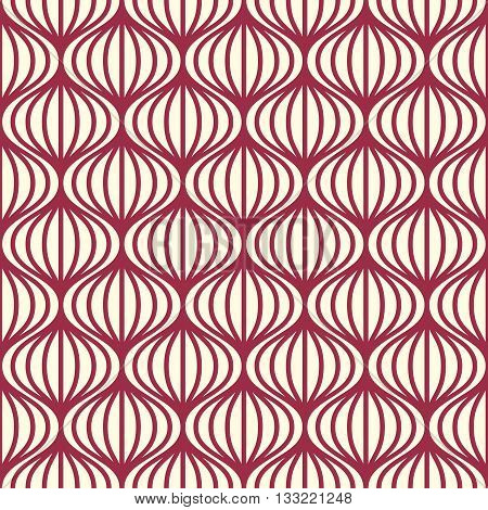 Vector seamless pattern graphic geometric wrapping paper. Abstract backdrop created with interweave lines and circles can be used in textile and web designs