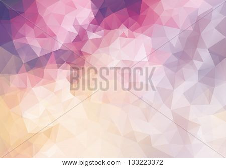 Abstract vector triangle background in pink and purple colors