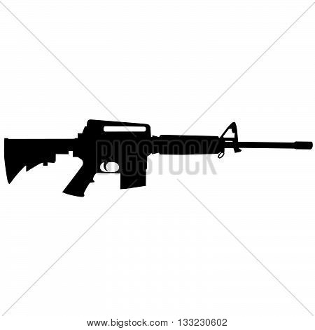 AR15 or M3 civilian version of M16 223 cal or 5.56 nato military rifle