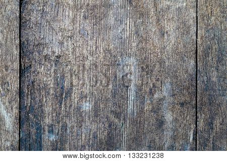 Old, colorful and cracked wooden plank wall background