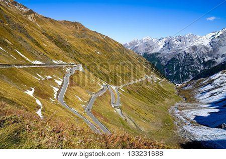 Stelvio Pass, Passo Dello Stelvio, in Autumn (Italy)