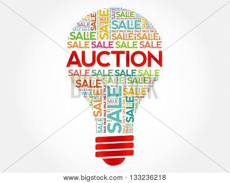 Auction Bulb Word Cloud