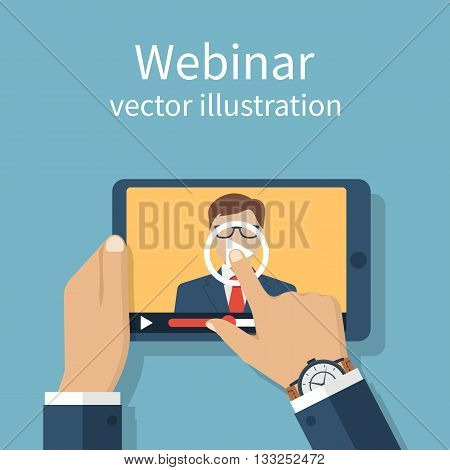 Webinar,  Training In Internet.
