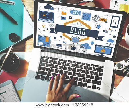 Blog Blogging Website Web Page Concept
