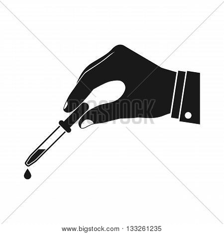 Pipette In Hands Doctor