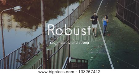 Robust Healthy And Strong People Graphic Concept