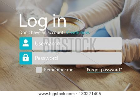 Login Registration Username Password Concept
