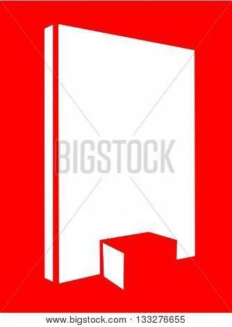 Vector drawing of a Trade Show booth with back wall