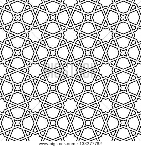 moroccan mosaic seamless on white background. vector illustration