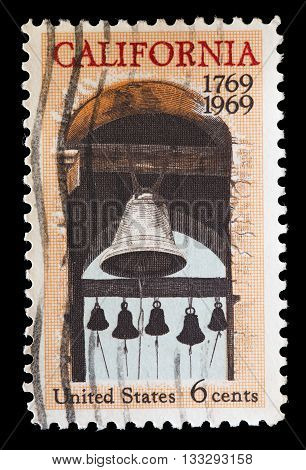 United States Used Postage Stamp Commemorating The Colonization Of California