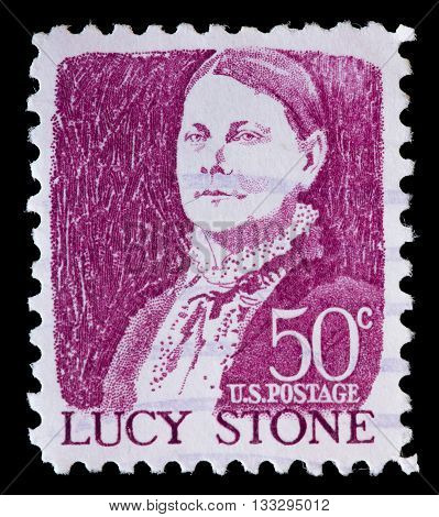 United States Used Postage Stamp Showing Portrait Of Lucy Stone