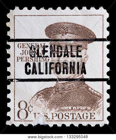 United States Used Postage Stamp Showing General John Pershing