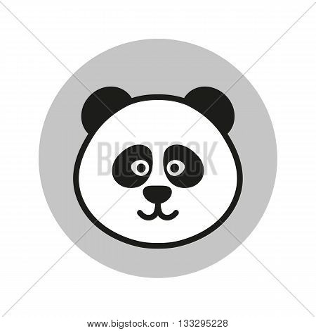Panda vector icon. Panda logo. Flat Panda Icon. Panda design Icon. Panda flat icon. Panda in circle. Panda art. Panda head Icon