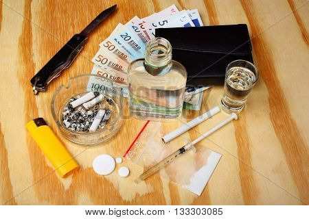 Things On The Table A Criminal Drug Dealer