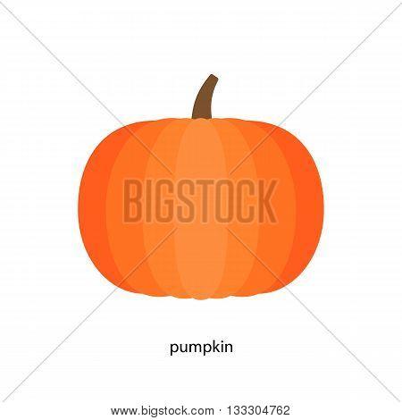 Pretty  pumpkin in bright orange color  with handle