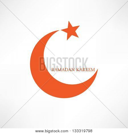 ramadan kareem flat graphic design eps10 vector