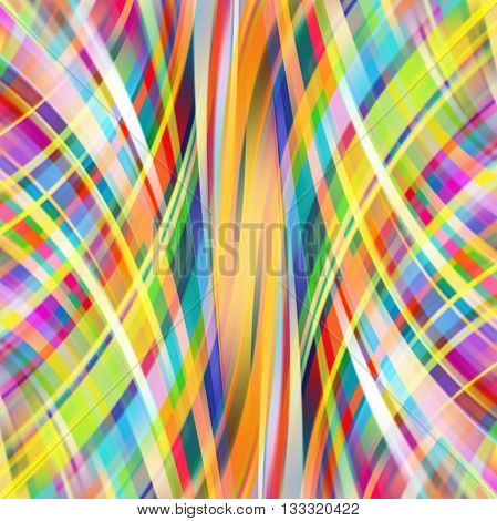 Abstract Technology Background Vector Wallpaper. Stock Vectors Illustration. Yellow, Orange, Blue, R