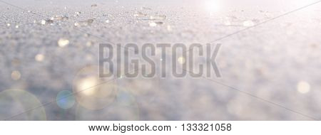 Abstract spacial sparky background of ice surface