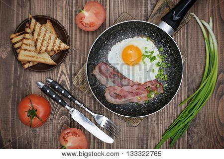 Bacon With Sunny Side Up Egg