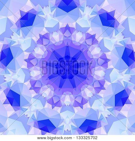 Multifaceted purple pattern of regular geometric shapes