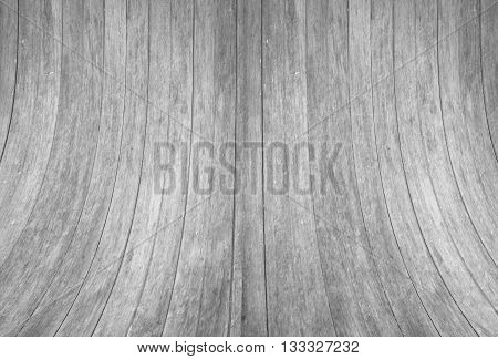 Black and white tone wood wall curve texture background, stock photo