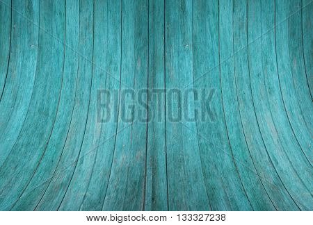 Blue wood wall curve texture background, stock photo