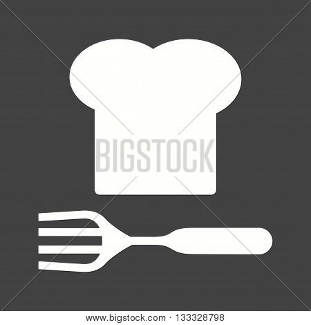 Fork, knife, chef icon vector image. Can also be used for kitchen. Suitable for use on web apps, mobile apps and print media.
