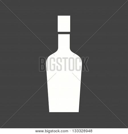 Wine, bottle, alcohol icon vector image. Can also be used for kitchen. Suitable for use on web apps, mobile apps and print media.