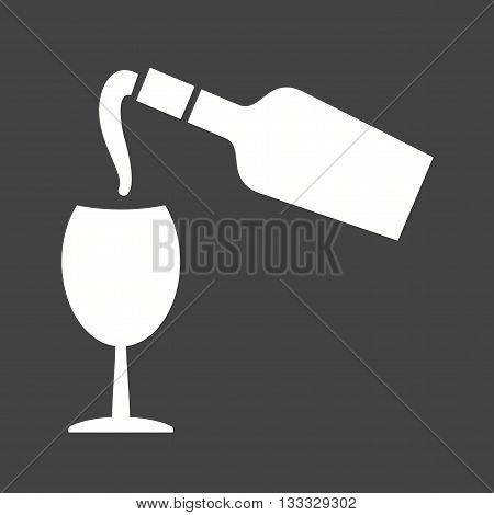 Wine, pouring, glass icon vector image. Can also be used for kitchen. Suitable for use on web apps, mobile apps and print media.
